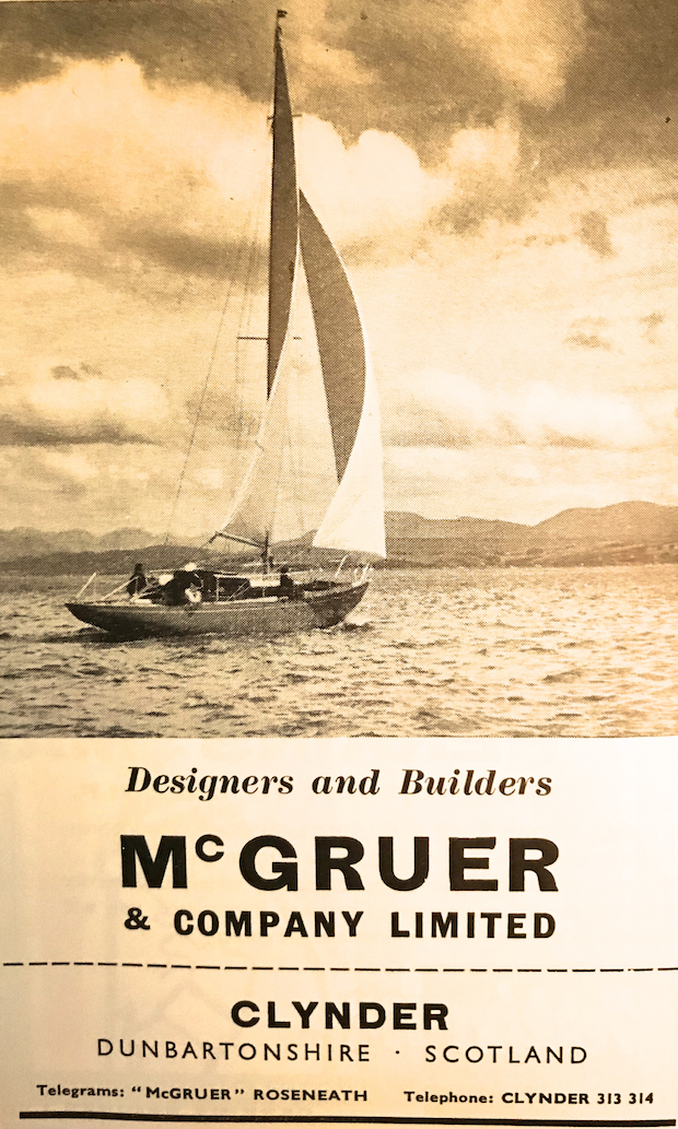 McGruer : Advert from Lloyd's Register of Yachts, 1960