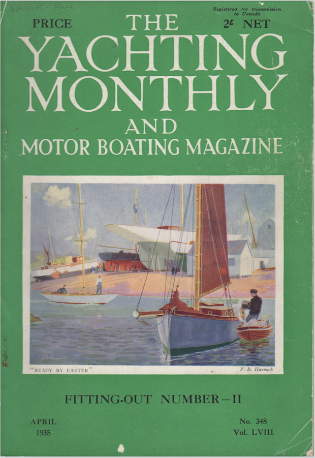 Vindilis on the cover of Yachting Monthly